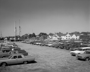 Mystic Seaport parking lot, 1968.