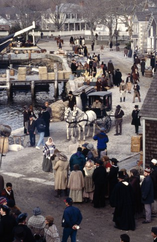 "Filming of ""Amistad"" at Mystic Seaport, 1997."