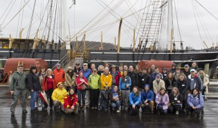 Day 1 of 38th Voyager orientation at Mystic Seaport, April 26, 2014