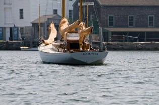 The Herreshoff-designed ketch ARAMINTA is available for day charters in Fishers Island Sound.