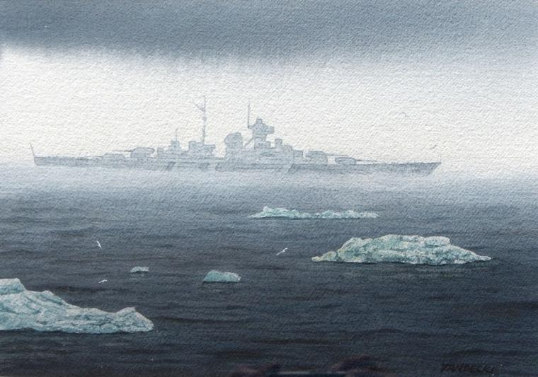 BISMARK in Norway Waters, 1941 - Robert Tandecki