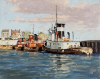 "David Bareford, ""Ocean King at Docks"""