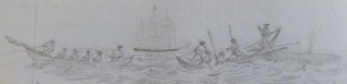 Drawing by Robert Weir. Log of the CLARA BELL. Log 164, G.W. Blunt White Library, Mystic Seaport.