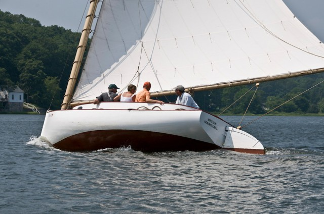 Take a sail aboard our 20-foot Crosby catboat reproduction, the BRECK MARSHALL.
