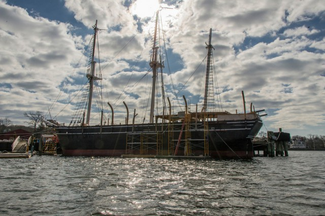 The CHARLES W. MORGAN at Mystic Seaport, March 2014