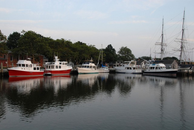 Enjoy the beauty of our grounds and the historic Mystic River while staying at our marina.
