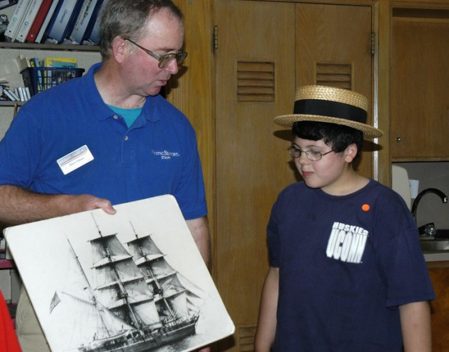 Students will learn about life at sea aboard a 19th-century whaling ship from their very own classroom!
