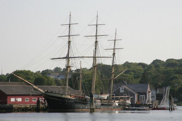Students get to explore the Museum's village by day and sleep aboard the tall ship JOSEPH CONRAD by night in our Ship to Shore overnight program.