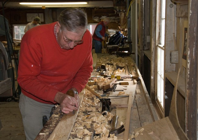 Learn the craft of boat building at the John Gardner Small Boat Shop.
