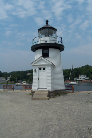 Mystic Seaport's replica of Brant Point Light