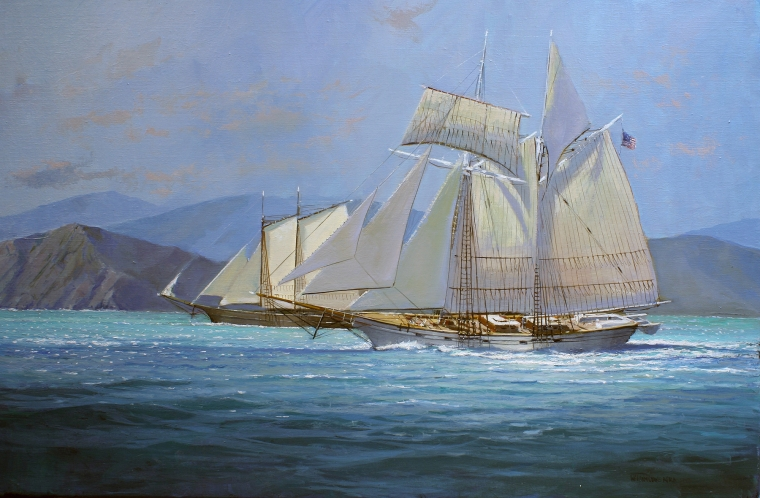 Lowe.CALIFORNIAN Under Full Sail