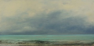 "Nella Lush, ""The Calm Before the Storm,"" Oil and Cold Wax, 30"" x 60"""