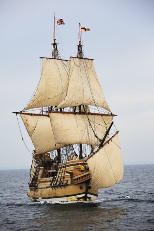 Mayflower II at sea Photo courtesy Plimoth Plantation