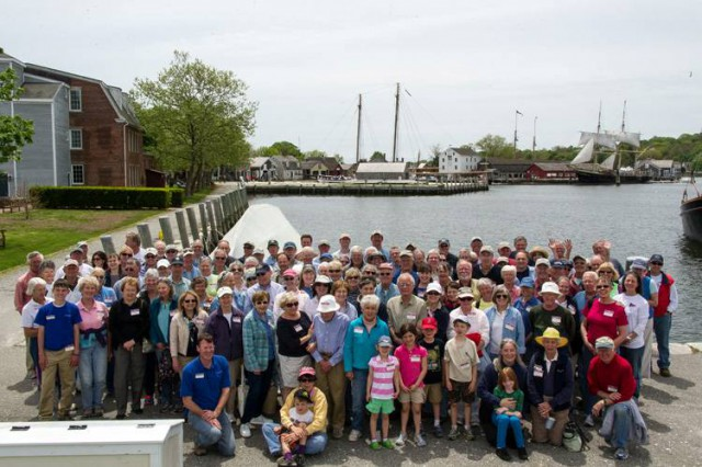 Mystic Seaport PILOTS take part in their annual Spring Weekend.