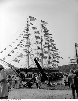 Charles W. Morgan at Mystic Seaport, 1947