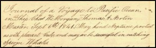 From Log 143, Manuscripts Collection, G.W. Blunt White Library, Mystic Seaport Museum, Inc.