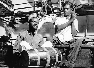Indian musicians aboard MAGDAPUR