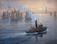 New York Harbor at Sunset - Patrick O'Brien