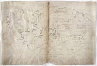 The Vinland Map. Photo courtesy Beinecke Rare Book and Manuscript Library, Yale University.
