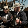 38th Voyagers Joanie DiMartino and Paul Krejci sing on board the CHARLES W. MORGAN on June 15, 2014
