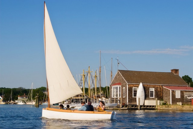 Rent a small craft from the Museum's Boathouse and explore the Mystic River on your own.