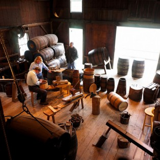 Learn the art of making barrels and casks, an integral part of 19-century industry, at the Mystic Seaport Cooperage.