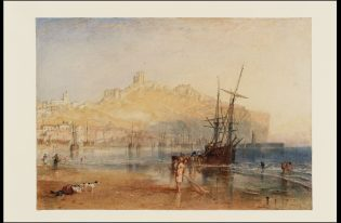 "J .M. W. Turner, ""Scarborough,"" c.1825, Watercolor and graphite on paper. Tate: Accepted by the nation as part of the Turner Bequest 1856 © Tate, London 2018"