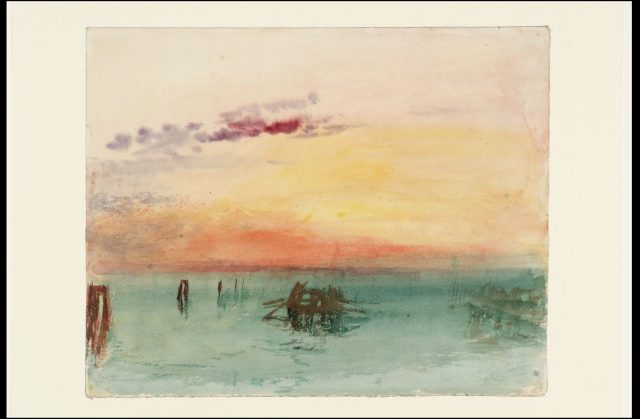 "J.M.W. Turner, ""Venice: San Giorgio Maggiore - Early Morning,"" 1819, watercolour on paper. Tate: Accepted by the nation as part of the Turner Bequest 1856 © Tate, London 2018"