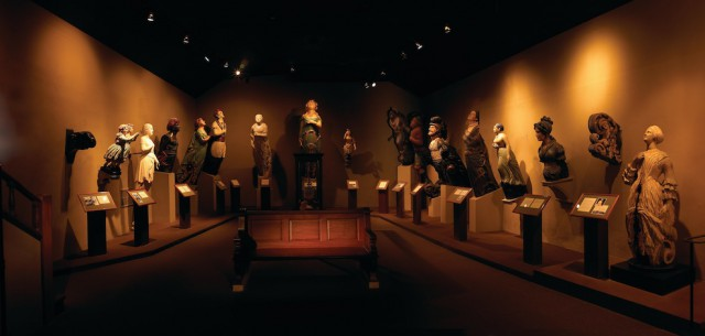 Get a first-hand look at the most romantic and mysterious artifacts from the Age of Sail inside our Figureheads Exhibit.