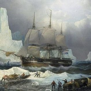 Historic rendering of the Franklin Expedition