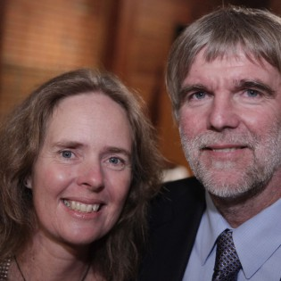 Kicki Ericson and Theo Matzen, 2001 Blue Water Medal recipients