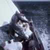 Working the foredeck on the way to Bermuda, 1954