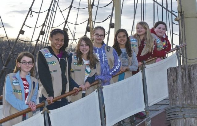 Scouts and youth groups experience the thrill of sleeping aboard a tall ship when participating in the Museum's Anchor Watch program.