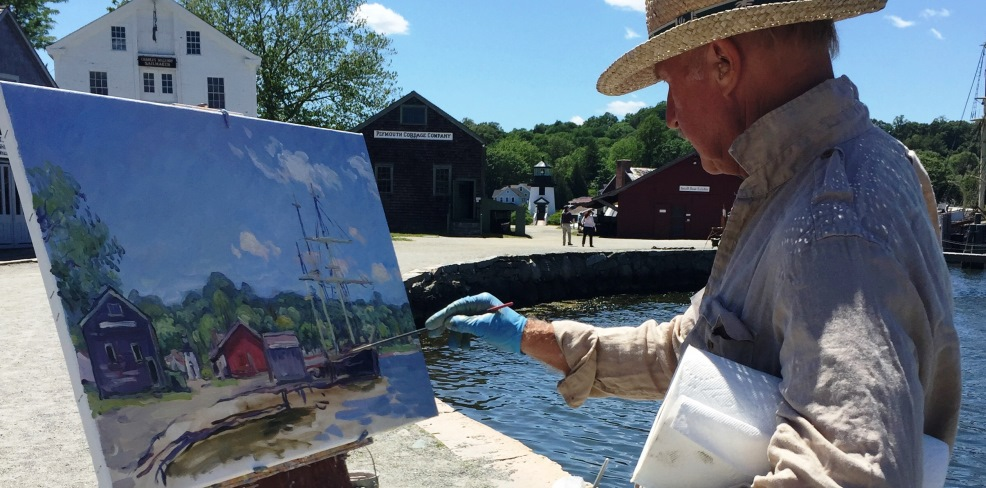 Artist Jan Pawlowski Paints En Plein Air