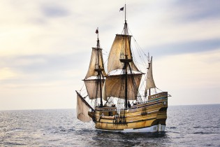 MAYFLOWER II under sail, Photo courtesy Plimoth Plantation