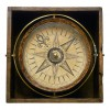 A mariner's compass manufactured by Jonathan Eade, circa 1750. Such compasses were crucial tools to assist mariners in determining in which direction they were sailing. Image courtesy National Maritime Museum, London.