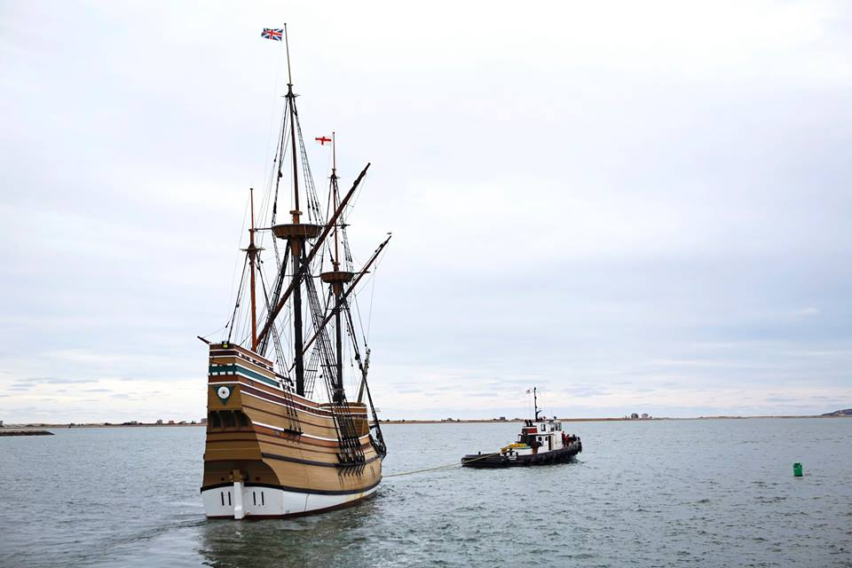 MAYFLOWER II Departure from Plymouth
