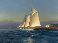 Neal Hughes. ISAAC H EVANS off Rockport, Maine